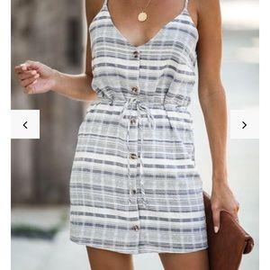 Vici-Hartley cotton button down dress